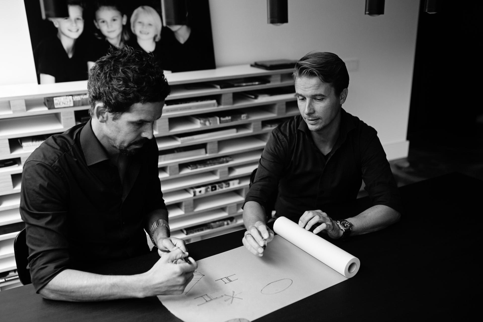 Ontwerpers en makers Carlo Abdul en Jasper van Rijn
